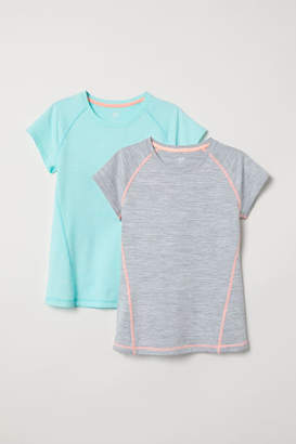 H&M 2-pack Sports Shirts - Turquoise