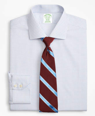 Brooks Brothers Milano Slim-Fit Dress Shirt, Non-Iron Two-Tone Windowpane