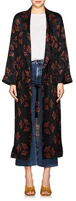 A.L.C. Women's York Fan-Pattern Silk Jacquard Robe