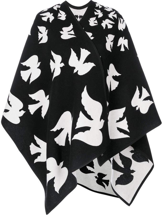 Alexander McQueen bird patch cape
