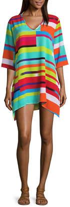 Porto Cruz Geometric Jacquard Swimsuit Cover-Up Dress