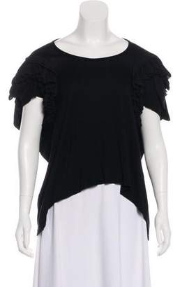 Preen by Thornton Bregazzi Embellished Short Sleeve Top