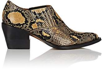Chloé Women's Python-Print Leather Ankle Boots - Yellow
