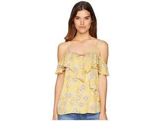 Miss Me Open Shoulder Floral Top Women's Clothing