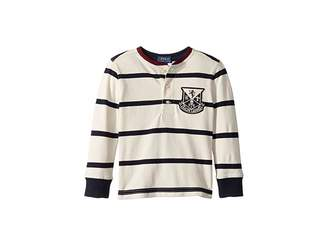 Polo Ralph Lauren Striped Cotton Mesh Henley (Toddler)