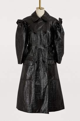 Simone Rocha Puff-sleeved trench coat