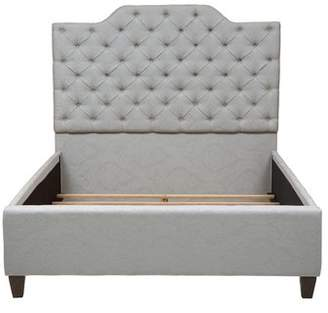 Co Darby Home Jerrie Button Tufted Upholstered Panel Bed