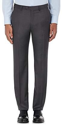 Brioni Men's Wool Flat-Front Trousers