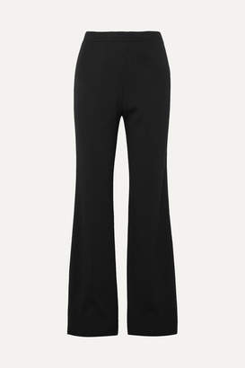Prada Ribbed-knit Wide-leg Pants - Black
