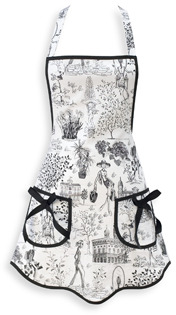 Gigi Toile Hostess Apron by Jessie Steele
