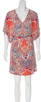 Mara Hoffman V-Neck Abstract Print Dress