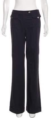 Tory Burch Logo-Embellished Mid-Rise Wide-Leg Pants