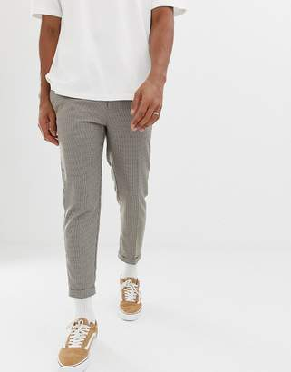 New Look regular fit pants in dogstooth check