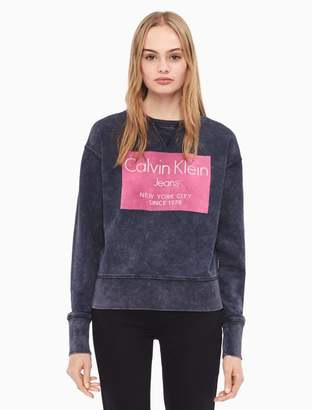 Calvin Klein metallic flocked logo sweatshirt
