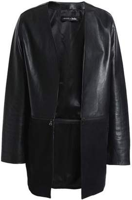 J Brand Emory Zip-Detailed Leather And Suede Jacket