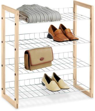 Whitmor Closet Storage Shelves, Wood and Chrome