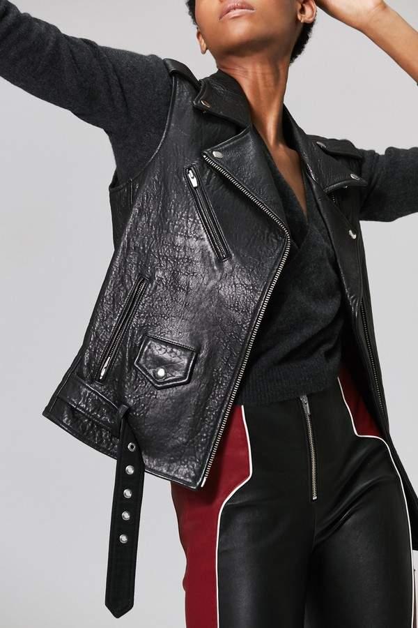 Veda Veda | Castor Classic Leather Vest Black | Xl