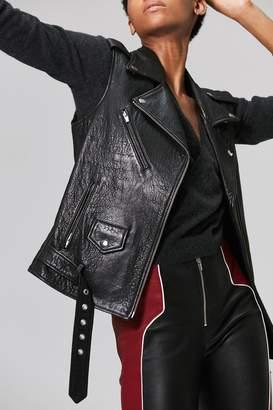 Veda Castor Classic Leather Vest Black