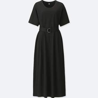 Uniqlo Women's Belted Short-sleeve T-Shirt Dress