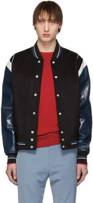 Givenchy Black Wool 4G Bomber Jacket