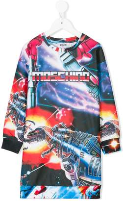 Moschino Kids Transformer print dress