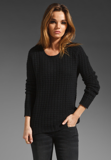 Enza Costa Cashmere Thermal Sweater