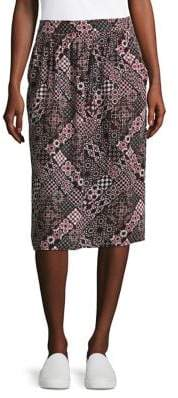 Lord & Taylor Plus Moroccan Tile Knee-Length Skirt