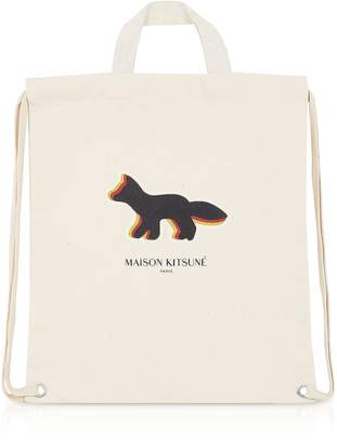 MAISON KITSUNÉ Quadri Fox Tote/Backpack