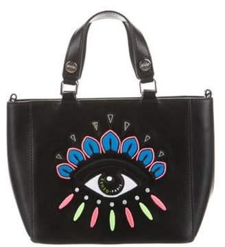 Kenzo Embroidered Eye Shopping Tote Black Embroidered Eye Shopping Tote