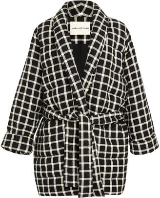 Mara Hoffman Willa Quilted Check Wrap Jacket