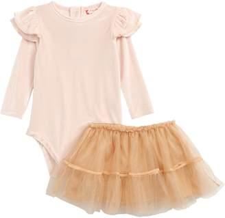 Ruby & Bloom Ballerina Velvet Bodysuit & Tulle Skirt Set