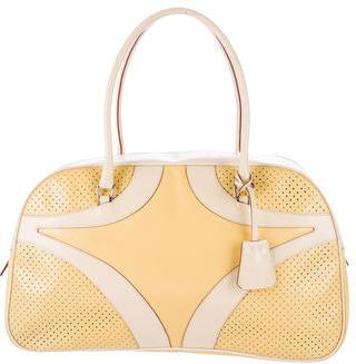pradaPrada Perforated Bauletto Bag