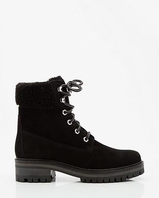 Le Château Faux Fur Nubuck Leather Ankle Boot