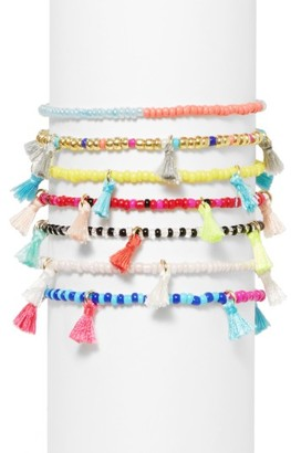 Women's Baublebar Cali Set Of 7 Stretch Bracelets $38 thestylecure.com