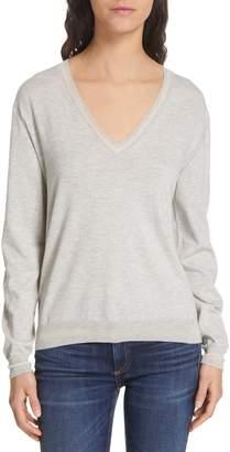 Rag & Bone Kento V-Neck Pima Cotton Sweater