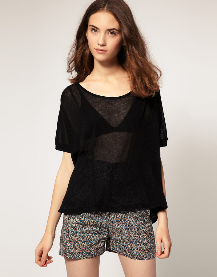 Surface To Air Verso T-Shirt In Linen Mix