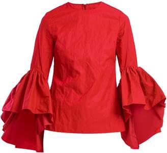 Marques Almeida MARQUES'ALMEIDA Oyster bell-sleeve cotton top