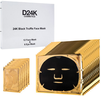 D24K by D'OR D'or 24K 2.12Oz (X18) 18-In-1 Black Truffle Face & Eye Mask Set (1 Year Supply)