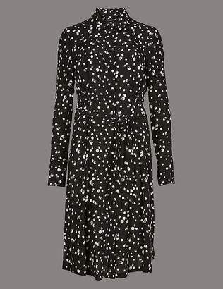 Marks and Spencer Pure Silk Printed Shirt Dress