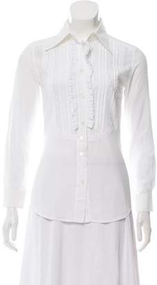 Dolce & Gabbana Embroidered Button-Up Top