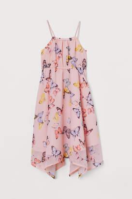 H&M Patterned Chiffon Dress - Pink