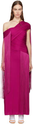 Emilio Pucci Pink Wrapped Fringe Dress
