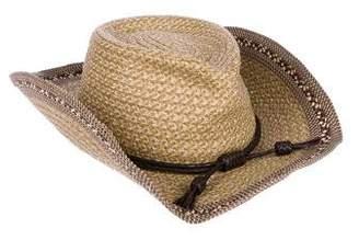 Eric Javits Metallic-Accented Straw Hat