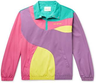 Leon Aimé Dore Logo-Embroidered Colour-Block Nylon Half-Zip Jacket