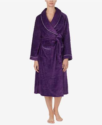 Eileen West Sculpted Microfleece Wrap Robe