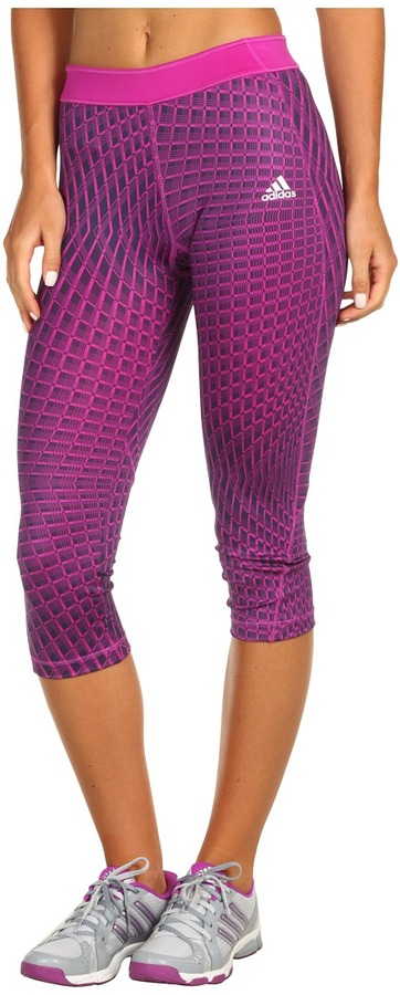 adidas techfit Momentum Grid 3/4 Tight (Vivid Pink/Matte Silver) - Apparel