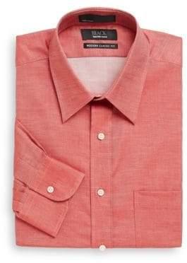 Saks Fifth Avenue BLACK Modern Classic Fit Chambray Dress Shirt