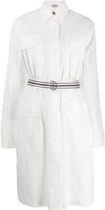 Brunello Cucinelli belted midi shirt dress