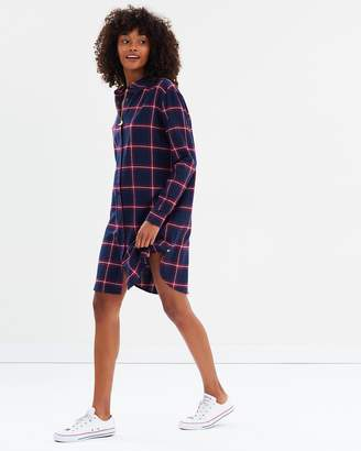 Maison Scotch Soft Brushed Check Dress
