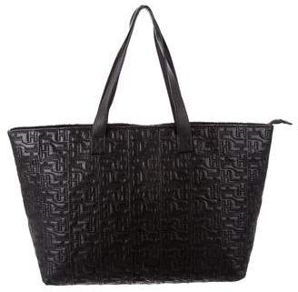 Herve Leger Quilted Leather Tote